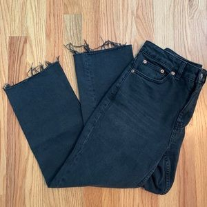 Top Shop- IDOL Washed Black Straight Jeans